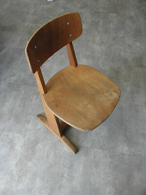 Vintage Chair wood Oak casala Farmhouse Stool Children Bench Seat Kid armchai 10