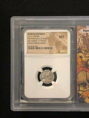 Roman Republic AR Victoriatus (3.46g) MS Coin in Airtight Case 8