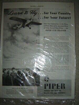 1985 Piper Lear Private Jet Aircraft Original Advertisement Print Art Ad J870