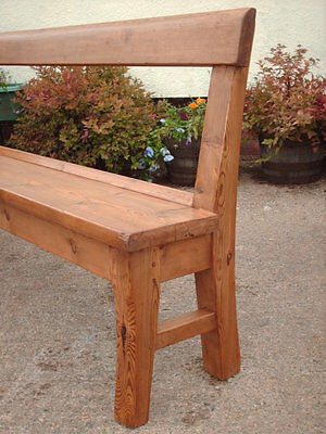 Victorian  Rustic  Pine  Bench 4