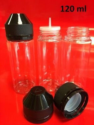 60, 100, & 120ml, Empty Plastic DIY Bottles, Squeezable, packs of 5~40 6