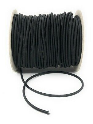 Corde Elastique / Cordon Elastique 2,5mm ou 3mm Noir - Vendu par 5 Mètres 2