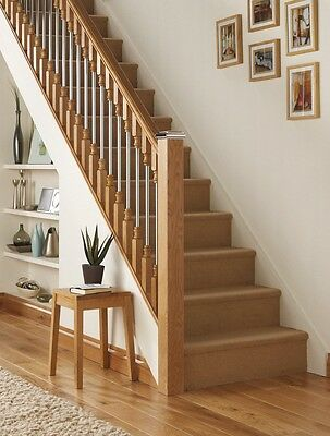 2 Of 4 AXXYS SOLO Chrome U0026 Oak Stair Newel Post Cap To Fit 90mm Newel Post  Full Or