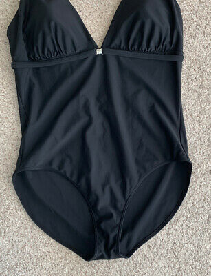 BNWT Ladies NEXT Navy Shape Enhancing Tummy Control Padded Cup Ruched Swimsuit