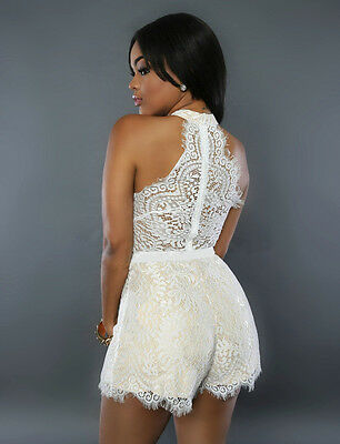 the latest 053f0 50d60 TUTA ELEGANTE PANTALONI corto jumpsuit vestito abito cerimonia da donna  casual