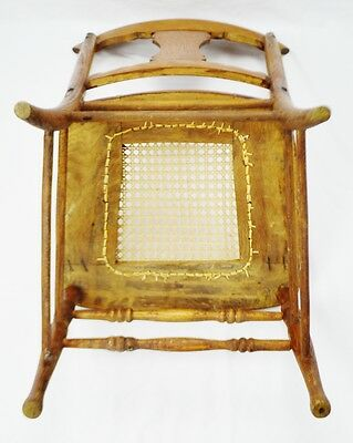 Early Oak Cane Seat Splat Back Accent Chair 10