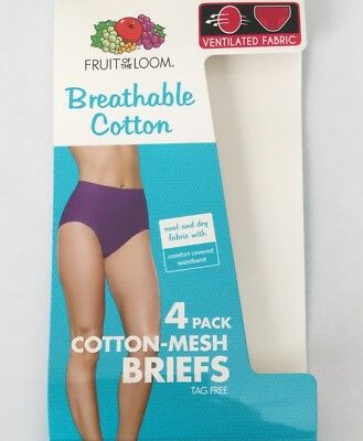 b0afc638c5e9 ... Fruit of the Loom Women's 4-Pack Breathable Panties; Bikinis OR Briefs 7