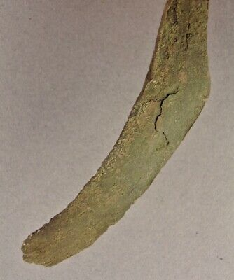 OLD COPPER CULTURE Fine ROUND TIP CURVED KNIFE Vilas Wisconsin Gogebic Mich 32 9