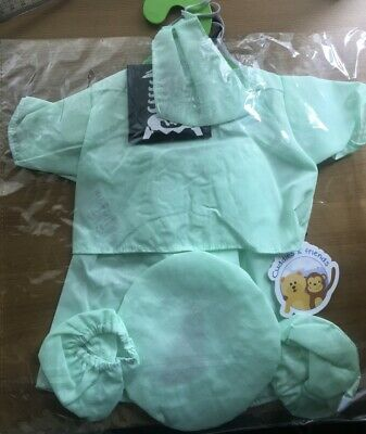 """Doctor scrubs Teddy Bear clothes outfit to fit 16"""" build a bear bears and animal 2"""