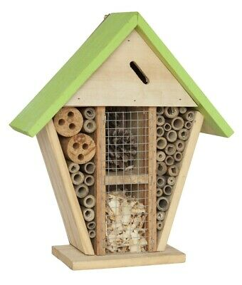 Insect Wooden Hotel Nest Home Bee Keeping Bug Ladybird Garden Pollination Box 8