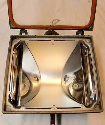 Vintage Par-Light Mfg. Co Cast Aluminum Halogen Flood Light Milan ILL. Steampunk 4 • CAD $50.39