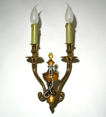 Vintage Brass French Sconce 5
