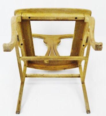 Antique Quartersawn Oak Claw Foot Arm Chair 11