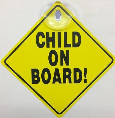 New Baby On Board Child Safety Suction Cups Car Vehicle Baby On Board Car Sign 3