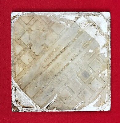 "Rare Antique Minton Tile, 8"", John Moyr Smith, Sir W. Scott Bk, Paris Expo, 1878 6"