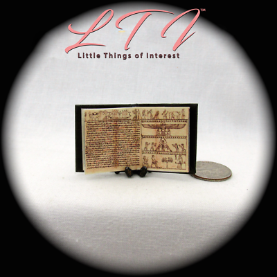 BOOK OF THE DEAD Illustrated Miniature Book Dollhouse 1:12 Scale Black Egyptian 7