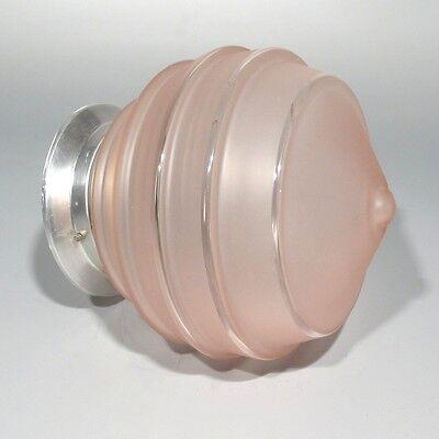 Vintage French Art DecoCeiling FixtureChandelier Pink Glass Globe Shade 3