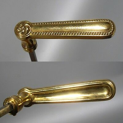 "Set of Vintage French Bronze Door Handles, Signed ""L.B. Paris"""
