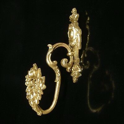 Antique French Gilded BronzeSmall Ornament HookTieback, Neoclassic, Stamped 3