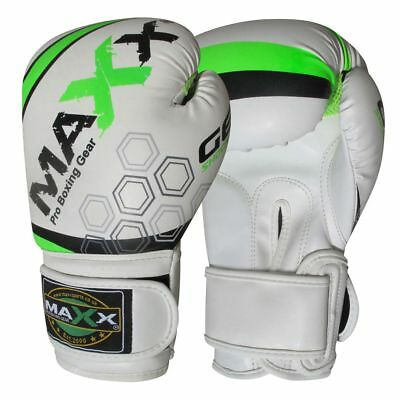 Maxx Boxing Gloves Rex Leather Fight Punch Bag Training MMA Grappling Muay Thai 3