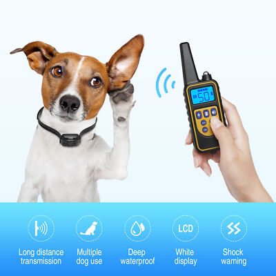 Dog Shock Collar With Remote Waterproof Electric for Large 880 Yard Pet Training 3