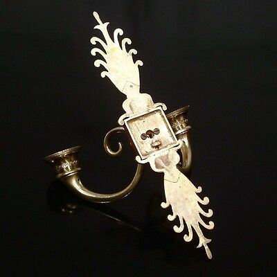 Vintage French Bronze / Brass Sconce, Neoclassic Style, Palm, Greek Frieze 5