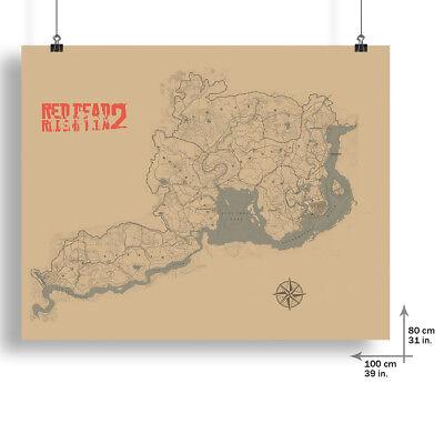 Saint Denis Map Poster Blackwater Map Print 80x100cm For Red Dead Redemption 2 3
