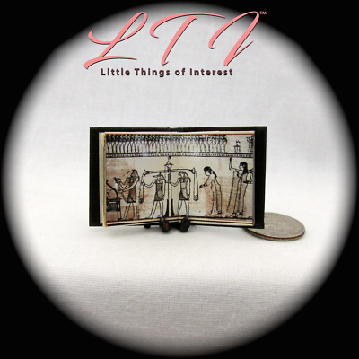 BOOK OF THE DEAD Illustrated Miniature Book Dollhouse 1:12 Scale Black Egyptian 8