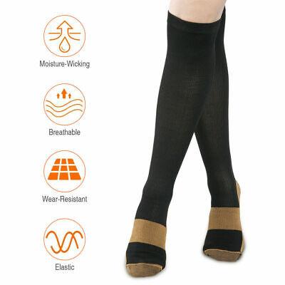 6 Pairs Copper Fit Energy Knee High Compression Socks, SM L/XL XXL Free Ship USA 2