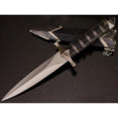 "11.5"" DARK ASSASSIN STAINLESS STEEL MEDIEVAL SHORT SWORD DAGGER w/ SHEATH 2"