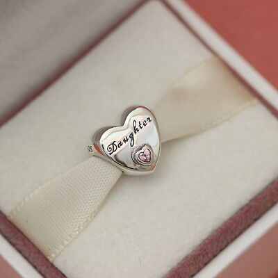 4efe47ba2 ... Authentic Pandora Daughter's Love Charm New #791726PCZ Mothers Day Gift  3