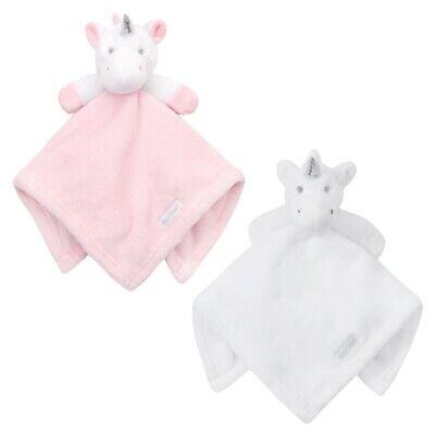 Personalised embroidered BABY WAFFLE BLANKET UNICORN gift set 2 colors 2