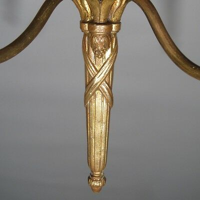 Vintage French Gilded Bronze Sconce, Neoclassic Style, Laurel Crown 9