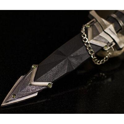 "11.5"" DARK ASSASSIN STAINLESS STEEL MEDIEVAL SHORT SWORD DAGGER w/ SHEATH 3"
