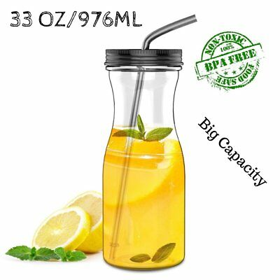 33OZ Big Tritan Water Bottle With Straw BPA Free Cold/Warm Drink ( 7 colors ) 4