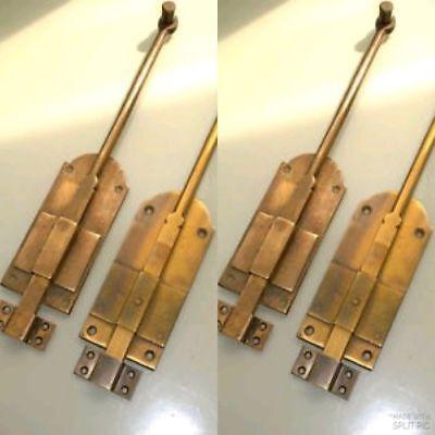 4 flush BOLT french old aged style doors heavy brass slide 29 cm long bolts B 3
