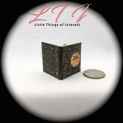 BOOK OF THE DEAD Illustrated Miniature Book Dollhouse 1:12 Scale Black Egyptian 4