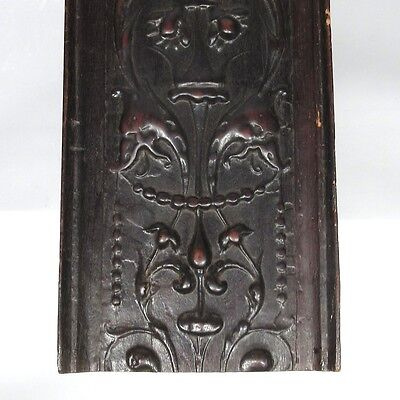Antique French Hand Carved Wooden Panel, Pelican, Birds & Dolphins 4