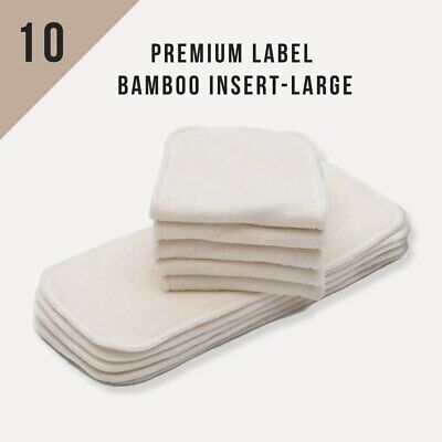 10/Pack KaWaii Baby Cloth Diaper Inserts/Liners (Bamboo, Charcoal, Microfiber) 2