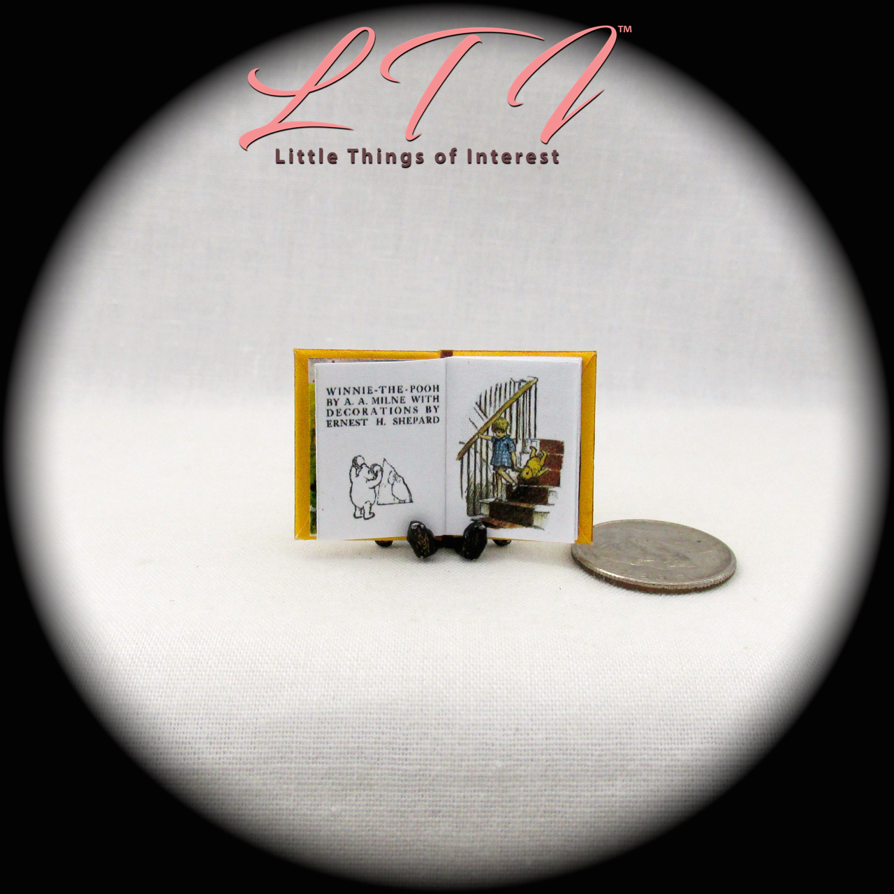 WINNIE THE POOH Miniature Book Dollhouse 1:12 Scale Illustrated Readable Book 5