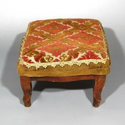 Antique French Country Footstool Louis XV Style 11