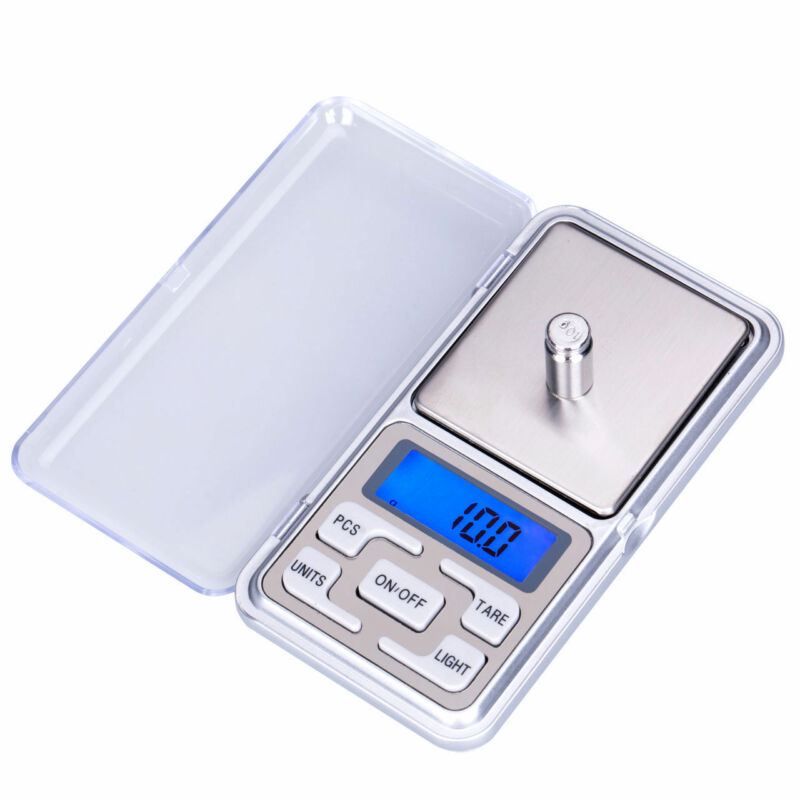 Digital LCD Scale Electronic Balance Weighing Jewelry Pocket Gram 0.01g-500g 4