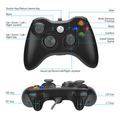 Wired / Wireless Game Controller Gamepad for Microsoft XBOX 360 & PC WIN 7 8 10 12