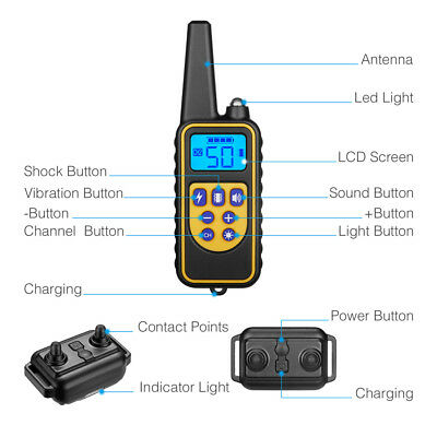 Dog Shock Collar With Remote Waterproof Electric for Large 880 Yard Pet Training 2