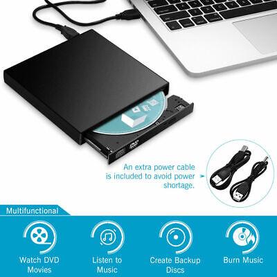 Lettore Masterizzatore CD DVD Esterno Portatile USB per Notebook PC Computer 2
