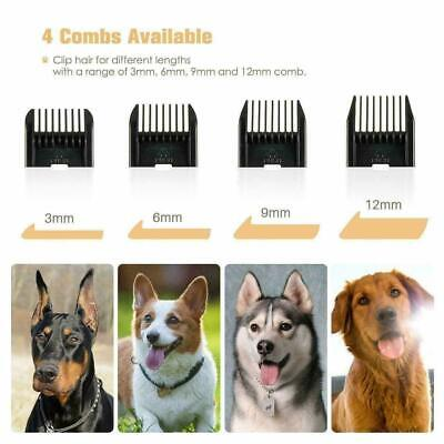Pet Professional Dog Grooming Clipper Kit Thick Fur Hair Trimmer Electric Shaver 4