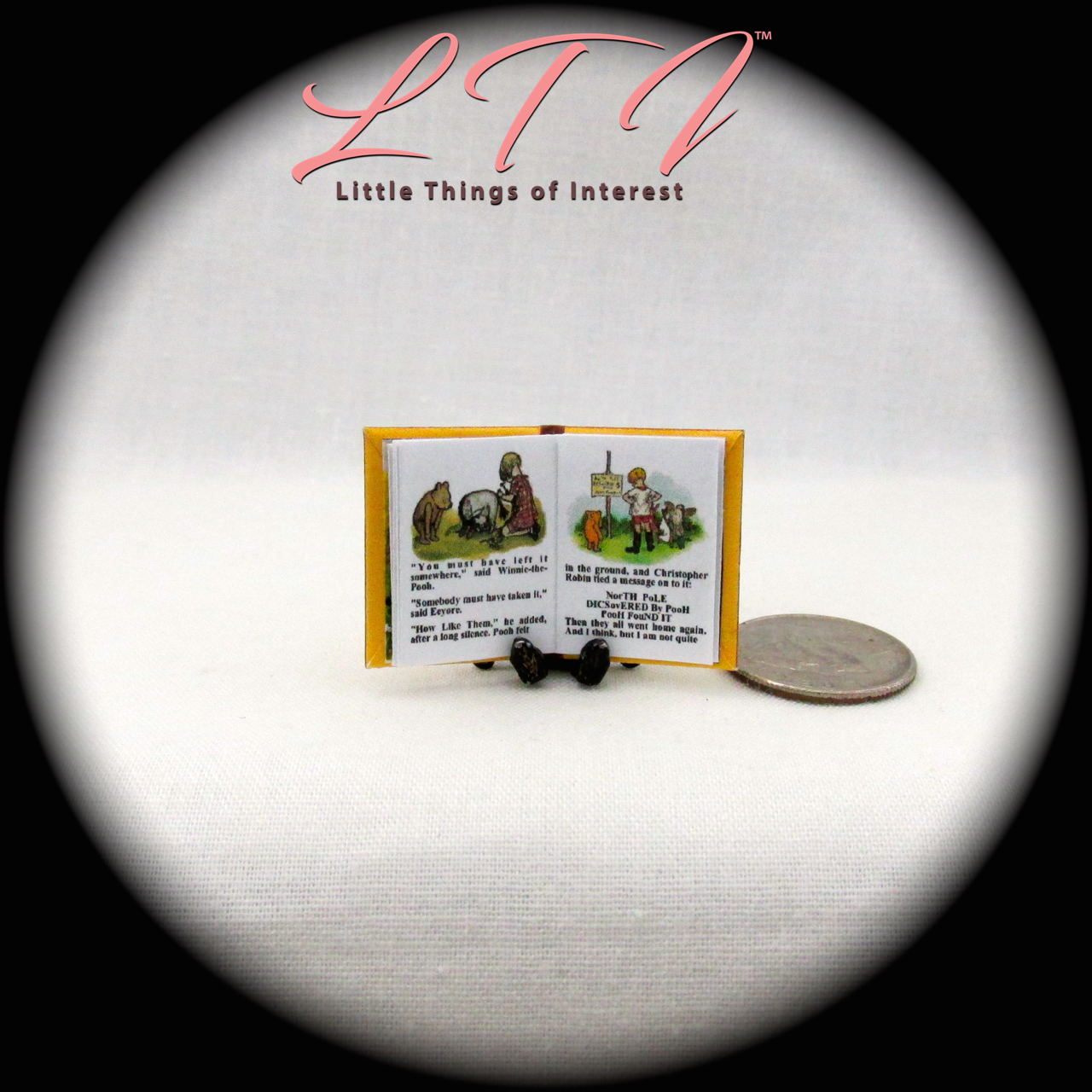 WINNIE THE POOH Miniature Book Dollhouse 1:12 Scale Illustrated Readable Book 7