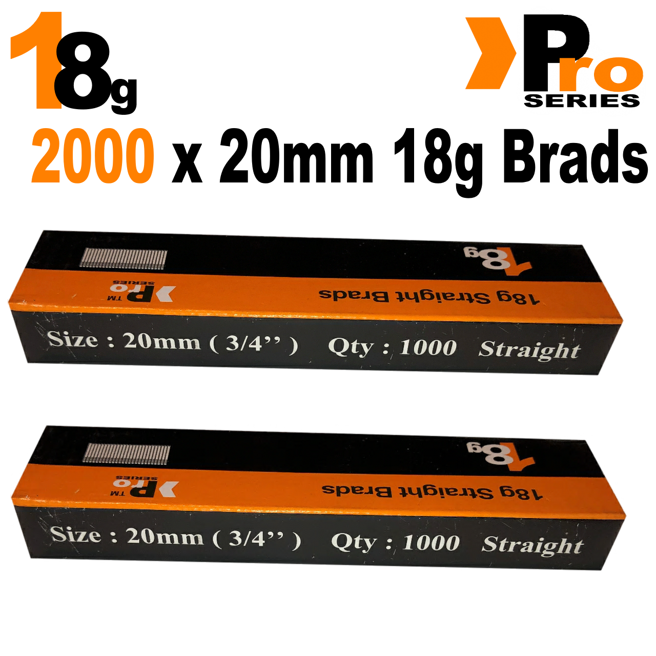 18 Gauge Brads: Sizes available 15mm - 50mm Brads ( 2 x 1000 Brad Handy Pack ) 3