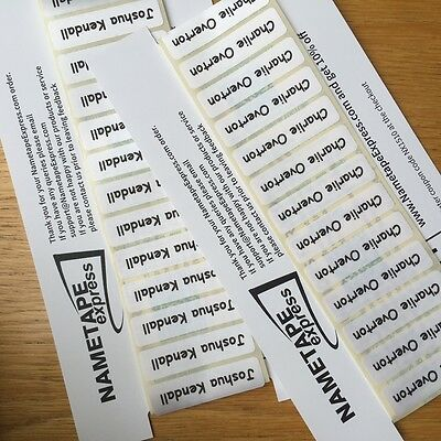 50 Peel /& Stick Labels//Tapes//School Tags  INC POSTAGE 50 Printed Name IRON-ON