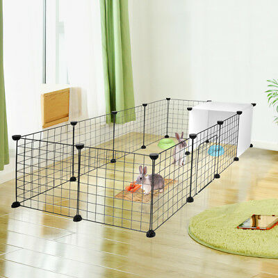 14-Panels Dog Rabbit Pet Playpen Cage Metal Wire Yard Fence for Small Animals 7